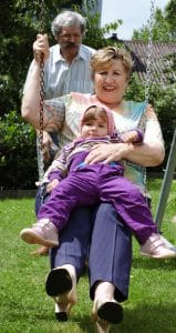 swinging with grandchild