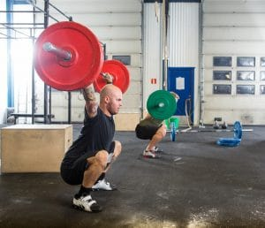 male athletes weightlifting