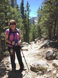 older woman hiking