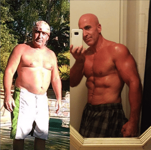 older man fitness before after