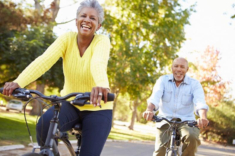 biking couple