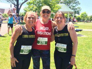 three women after race